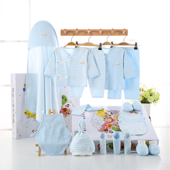 18PCS/set newborn baby girls clothes Organic Cotton 0-6months infants baby boys clothing set baby gift set Toddler Clothing