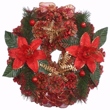 12 Inches Pine Deco Christmas Wreath - Buy Christmas Wreath 12 ...