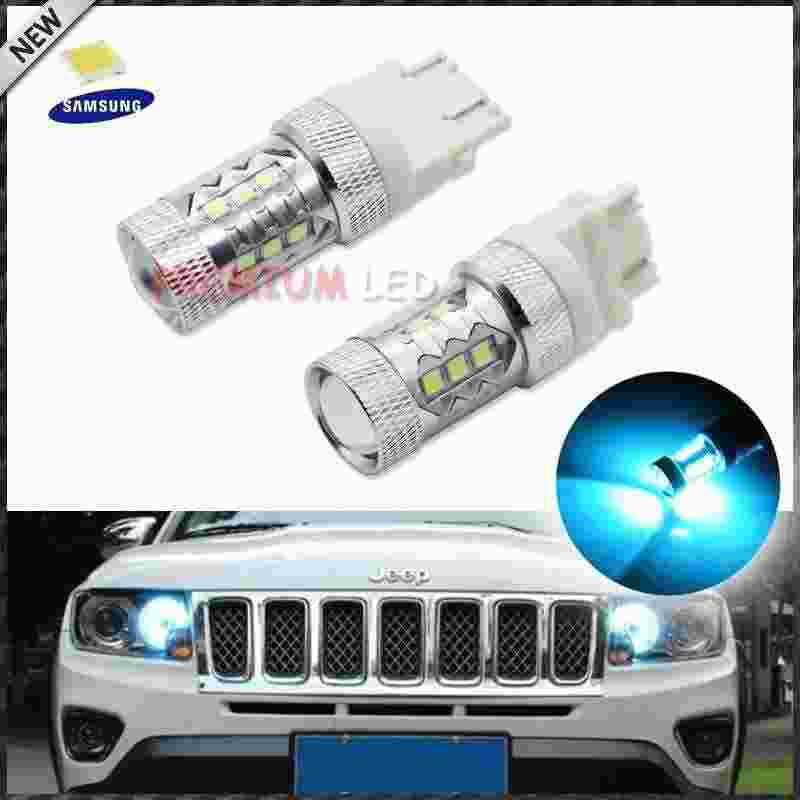 Super Bright Ice Blue 15-smd-3535 Samsung 3157 3156 T25 Led Bulbs For  2011-up Jeep Compass Daytime Running Lights - Buy Ice Blue Led,3156  Led,3157 Led