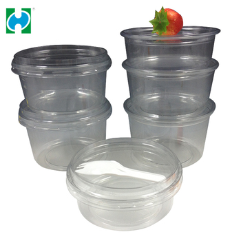 Customized Clear plastic Salad Bowl food disposable container, Salad container