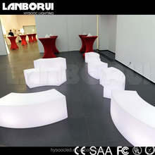 curved luxury led lit bar chair