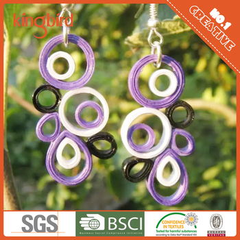896101ae2 Cute Girls Dangle Earrings As Unique Gifts In Paper Quilling - Buy ...