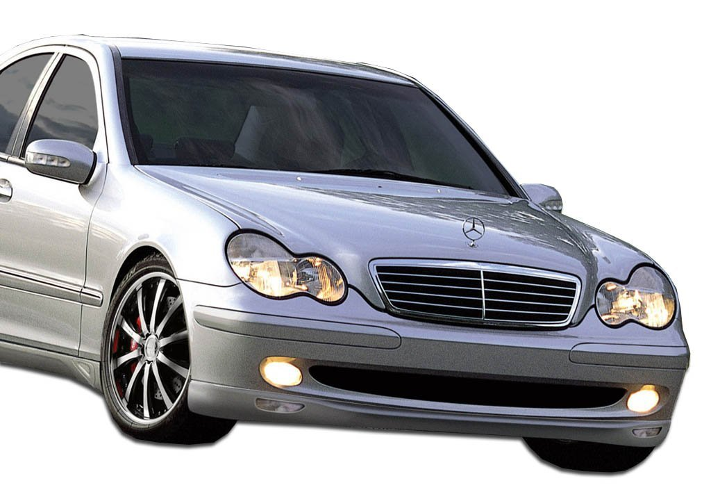 2001-2007 Mercedes C Class W203 Duraflex LR-S 2 Front Lip Under Spoiler Air Dam (sport model) - 1 Piece (Clearance)