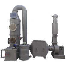 Air nat/gas scrubber + activated carbon air filter + ventilator + automatische doseersysteem = afval gas zuivering systeem