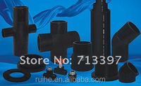 280 mm ISO standards of HDPE Pipe for Water /Drainage Supply SDR 11 black color