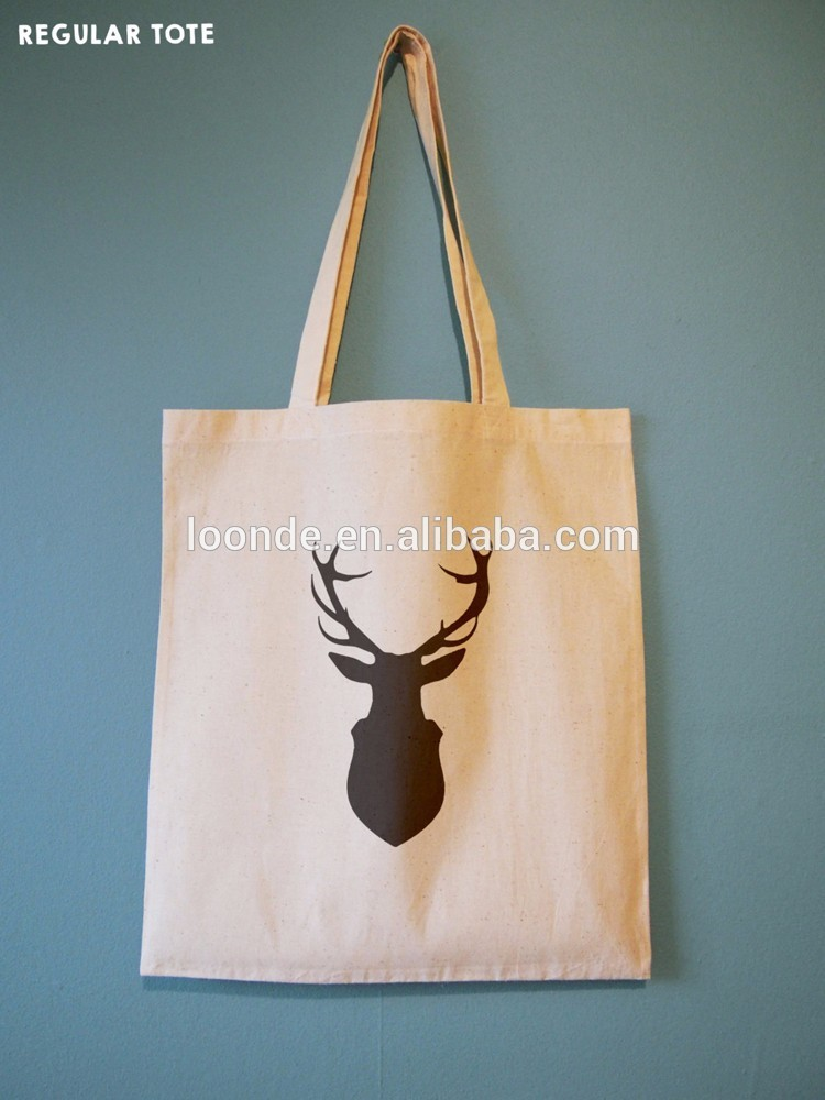 Custom fabric cotton tote bag with handle for trade fair