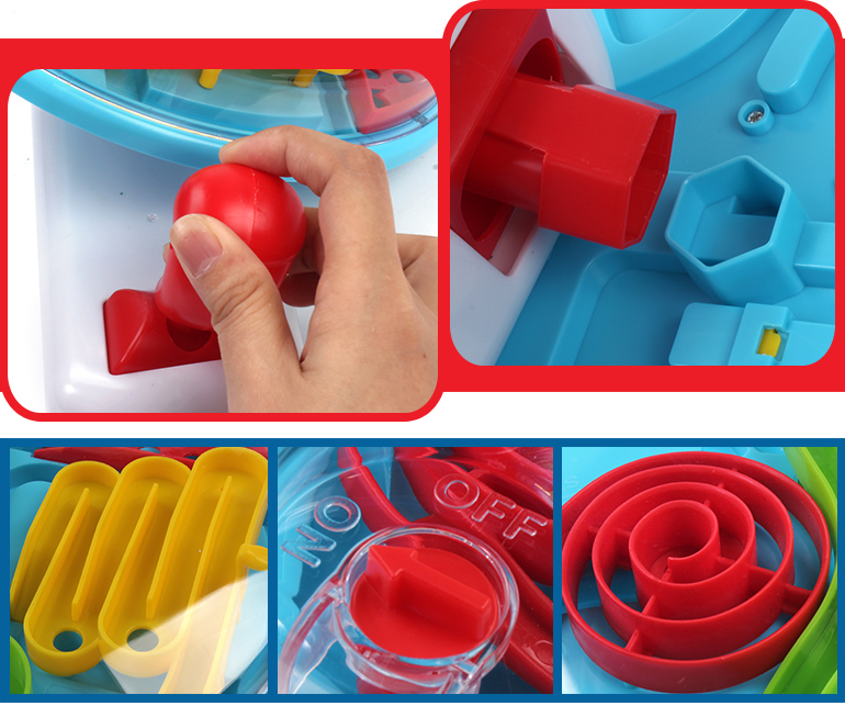 Colorful amusing develop intelligence intricate plastic maze game with remote control