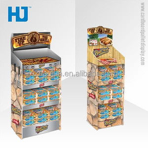 display stand for bbq, Supermarket BBQ Point Of Sale Cardboard Display