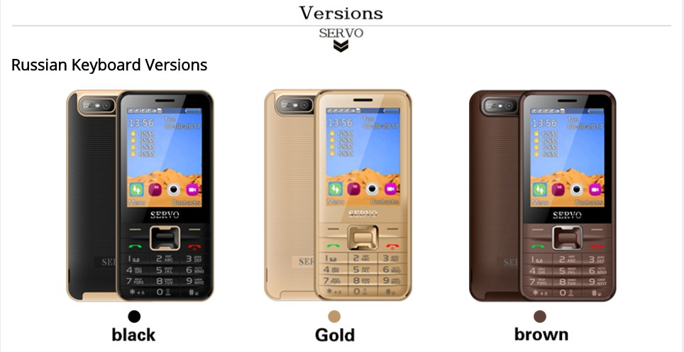 Best selling cheap mobile phones SERVO V8100 2.8 inch 4 sim