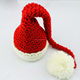 European style handmade wool long tail photography knitted new born baby cap