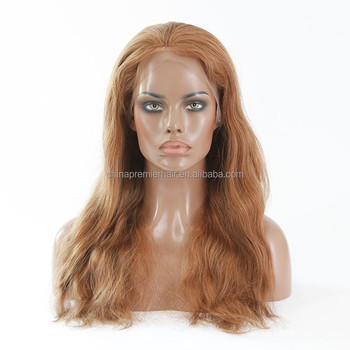 10  medium ash brown color natural straight malaysian human hair full lace  sew in wig 9f0e0db93eda