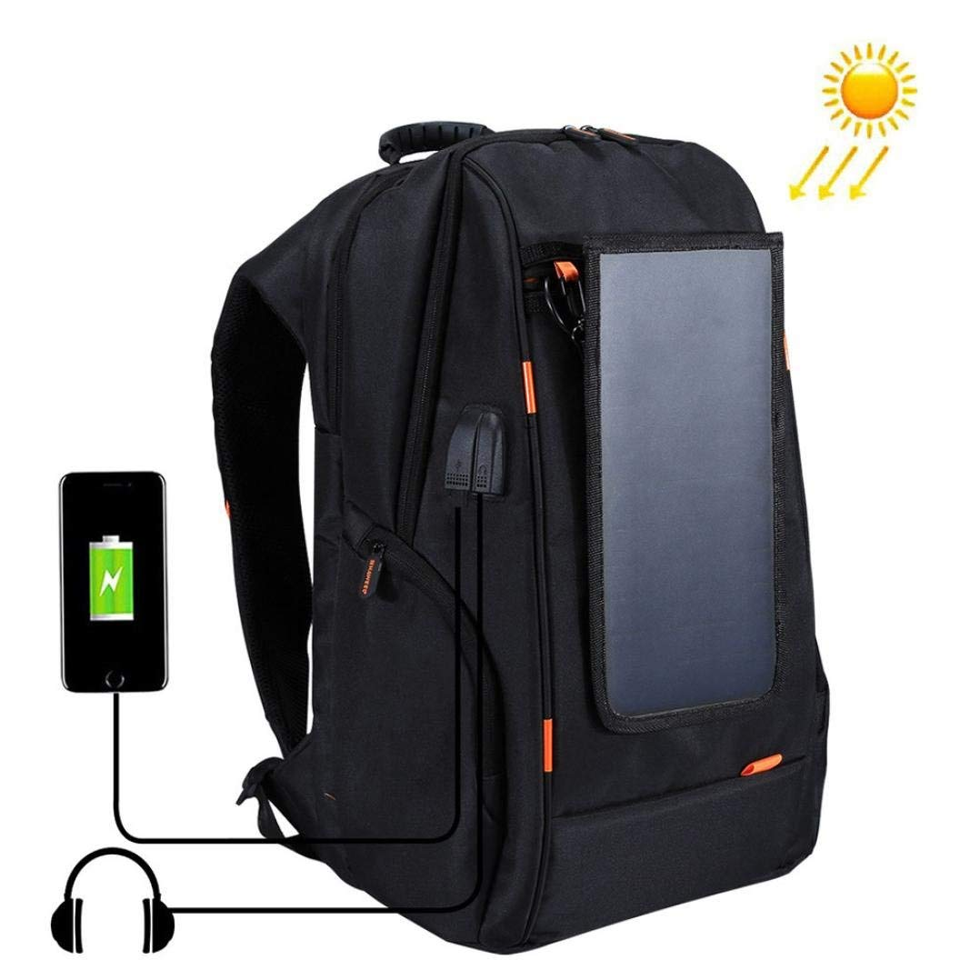 Lywey Outdoor Multi-function Solar Energy Panel Power USB Charging Port Backpack With Adjustable Shoulder Straps, 29cm
