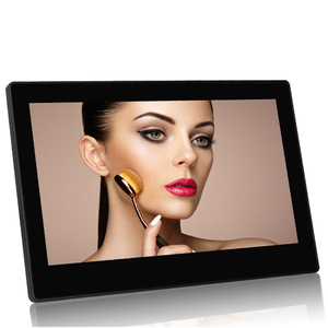 10 inch digital picture frames mirror panel video player 1080P