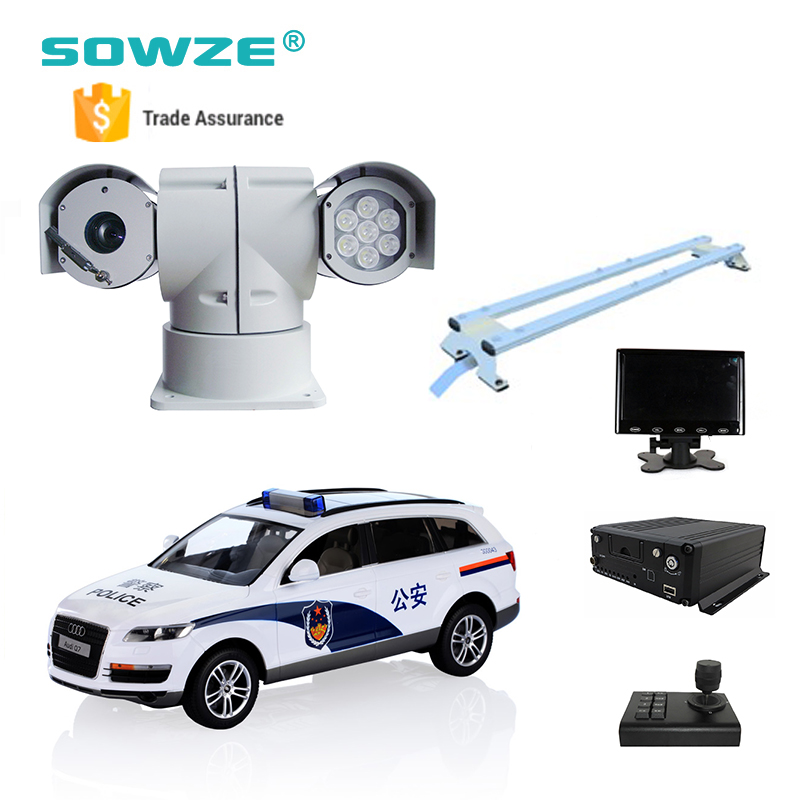 Security Camera Systems for Police Car with 2MP IP PTZ Camera and 3G GPS Mobile MNVR