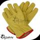 SRSAFETY Yellow pig split leather driver style work glove