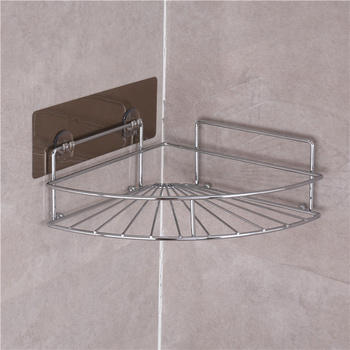 Metal Shower Corner Shelf Bath Storage Basket Bathroom Coner Shelf ...