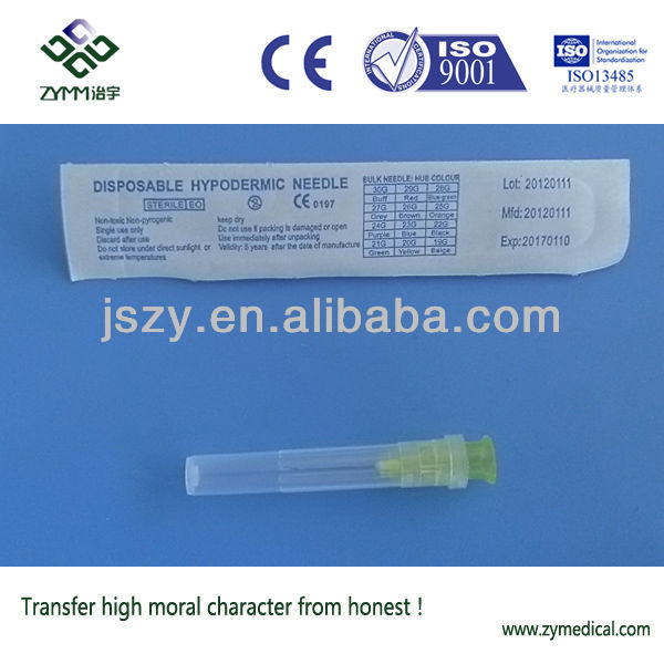 Disposable syringe needle 30G
