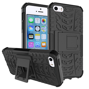 Hybrid Shockproof Kick Stand PC TPU Dazzle Phone Case Cover Case For iPhone 5S/5G/5SE