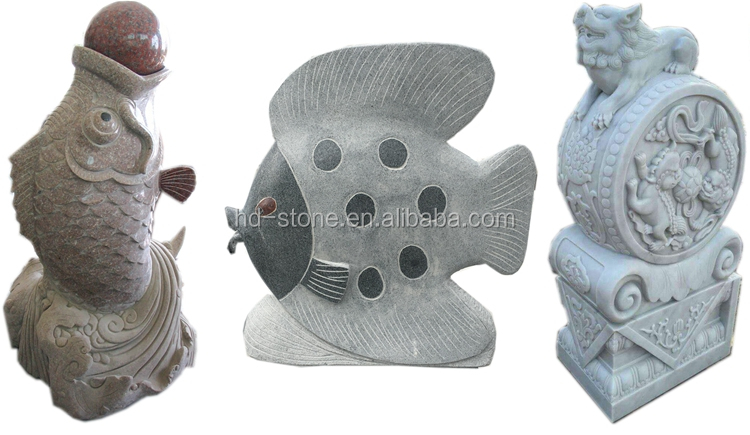 Outdoor Natural Stone Sculpture Chinese Hand Carving Stone Animal Statue Custom Shape