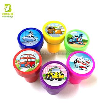 Transportation Vehicles Self-inking Stamp with Ink Plastic Toys for Kids