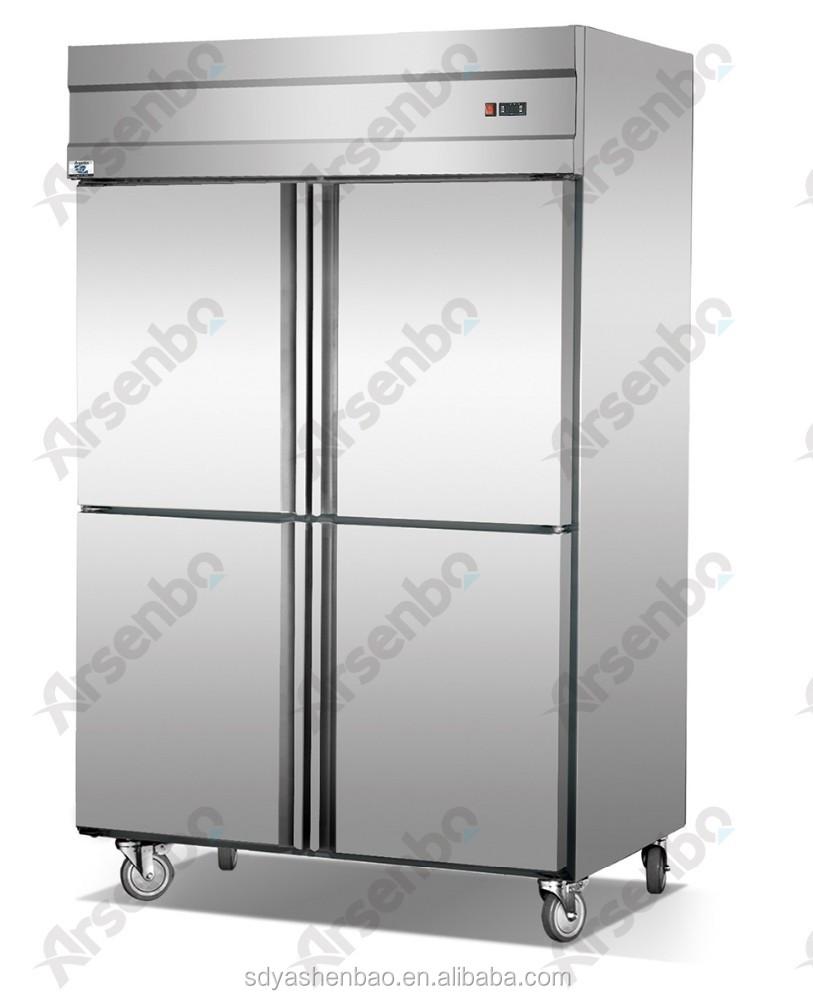 4 Doors Commercial Refrigerator/kitchen Refrigeration Equipment ...