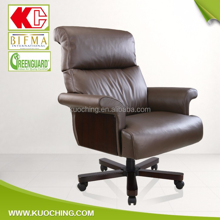 Perfect After-Sales Knee Tilt Leather Chair Executive Office Chair For Boss