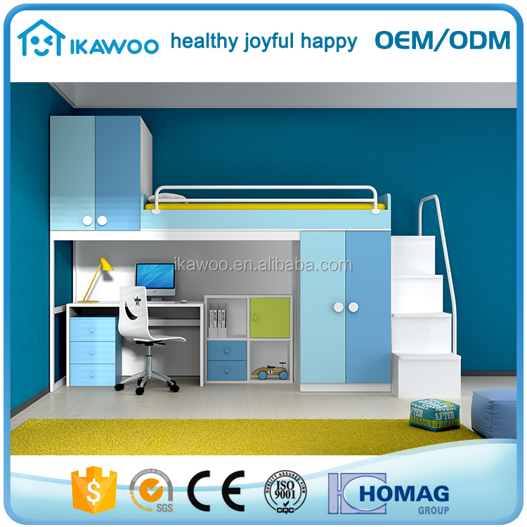 mdf melamina loft juvenil camas juegos de dormitorio con escritorio