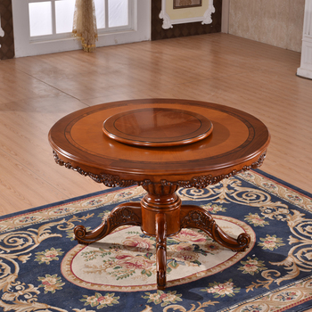 Unique Antique French Round Dining Table With Rotating Centre