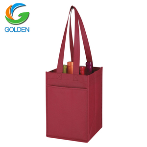 promotional non woven wine tote bags,cheap non woven 6 wine bottle carrier/gift bgas