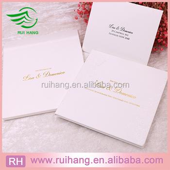 Gorgeous Hardcover Handmade Wedding Invitation Card Design Buy