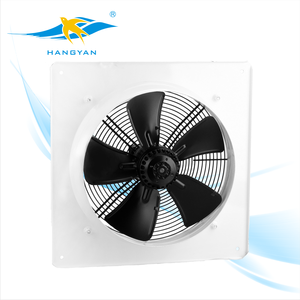 One piece square type axial flow fan