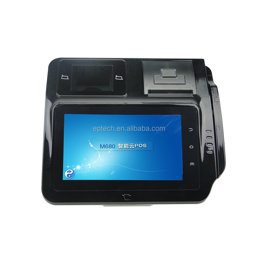M680 EMV L1 L2 PBOC 3.0 passed 7 inch All in one Android ECR Payment Terminal POS machine