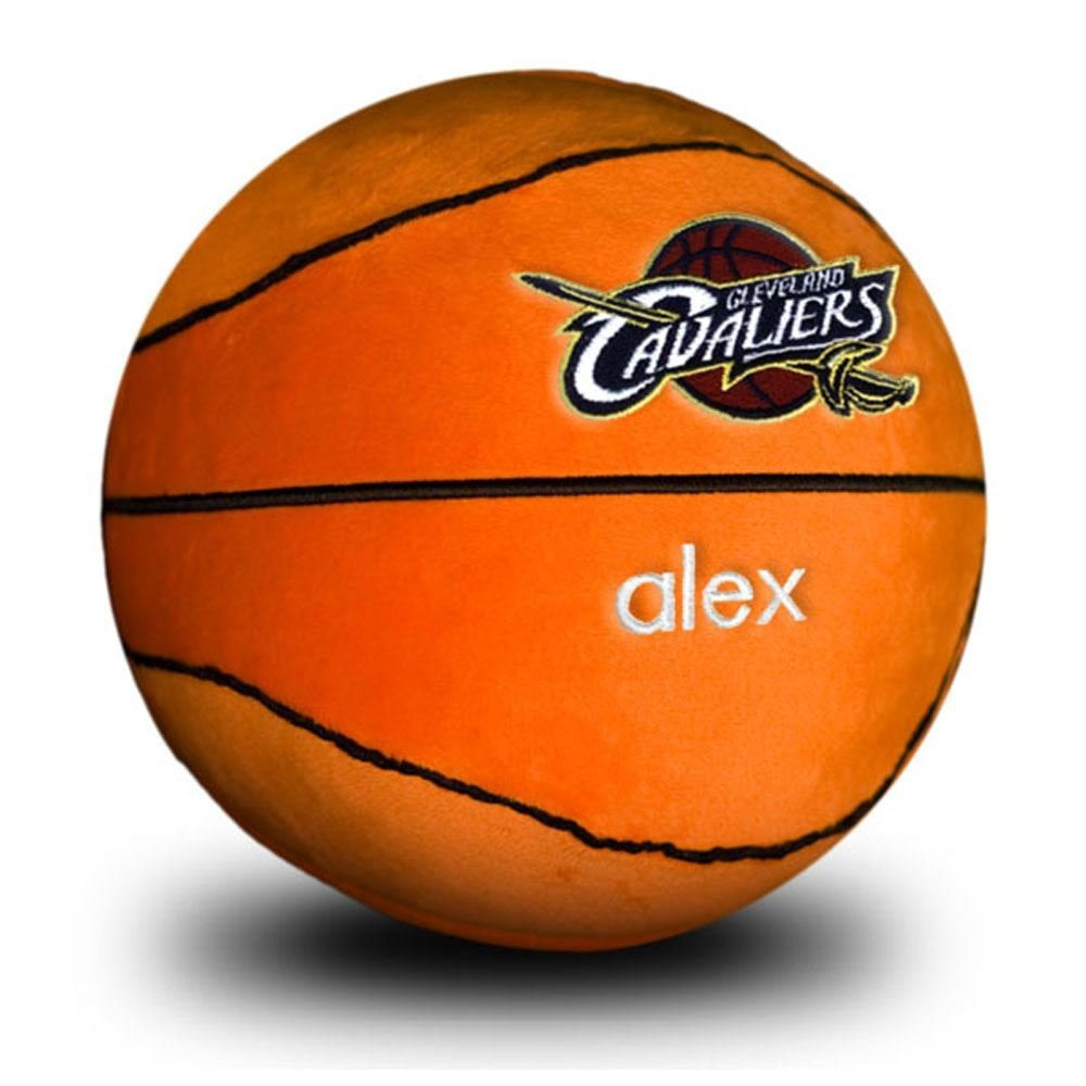 Designs by Chad and Jake Baby Personalized Cleveland Cavaliers Plush Basketball One Size orange