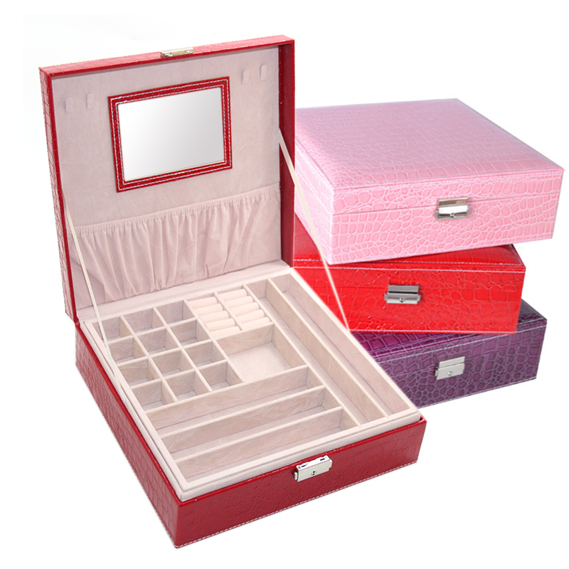 factory sale small quantity leather material jewelry box lock hardware