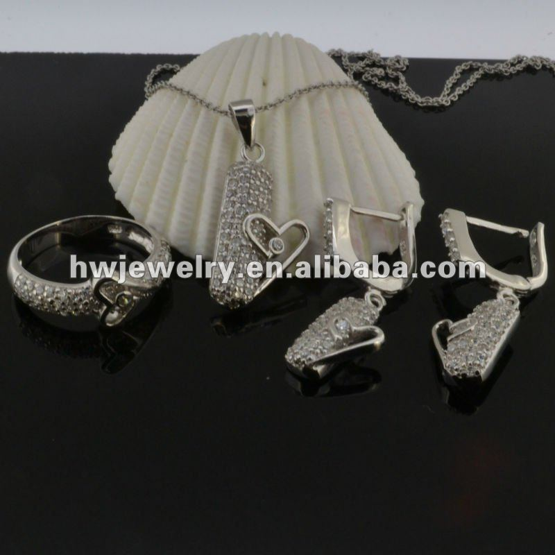 CZ jewelry sets accept paypal
