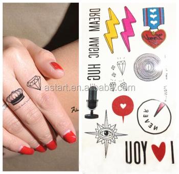 Amor Relámpago Dedo Diamante Tatuaje Pegatina Para Mano Buy