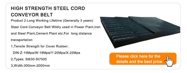 China Top Quality ST 1250 Steel Cord Conveyor Belt For Coal Mining