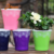 2018 new good free sample luxury fashion beautiful printing colorful 1 gallon indoor flower pot