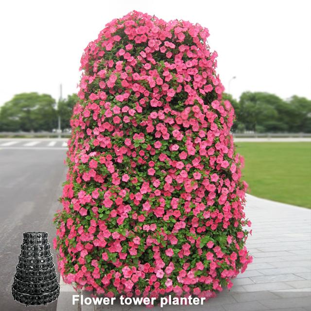 Garden Flower Tower Pots Vertical Container Garden Sl Yr160