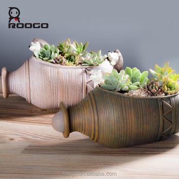 roogo r sine antique pierre pot en b ton moule c ramique vase en terre cuite en forme de pots de. Black Bedroom Furniture Sets. Home Design Ideas
