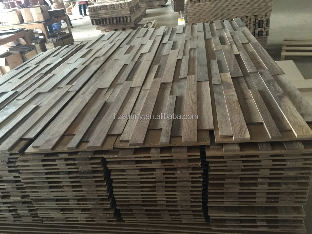 Decorative 3d wall panels, modern design 3d wood wall panel