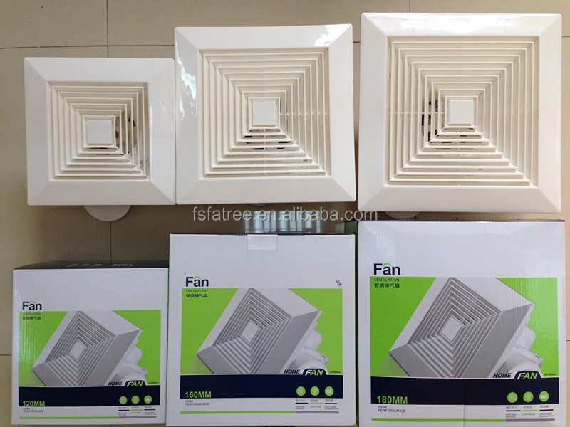 Low Noise Bathroom / Kitchen Plastic Indoor Ceiling Exhaust Fan
