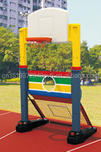 Kids Plastic Basketball Stand Set,Indoor Basketball Football Game Set Combination Basketball Hoop and Football Door