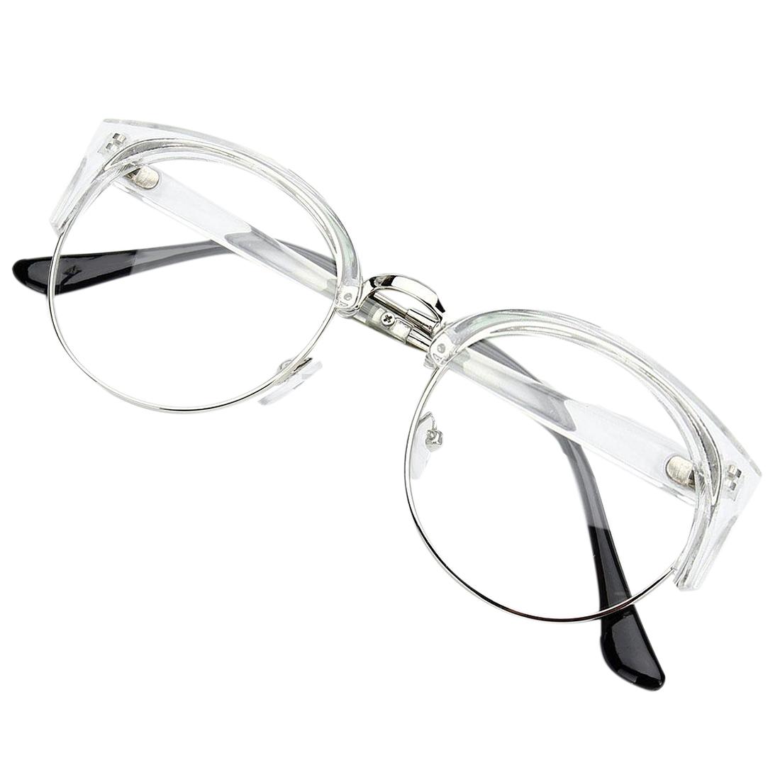 c660e378098ce Wholesale-Retro Style Women Men Round Nerd Glasses Clear Lens Eyewear Metal Frame  Glasses Colors Transparent White+Silver Frame