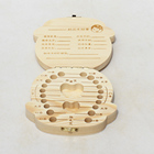 Wooden storage box for baby teeth