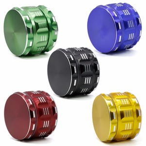 "Yiwu Mettle 5 Colors 4 Layers 2.5"" Flat-pattern Aluminum Alloy Polygon Weed Grinder"