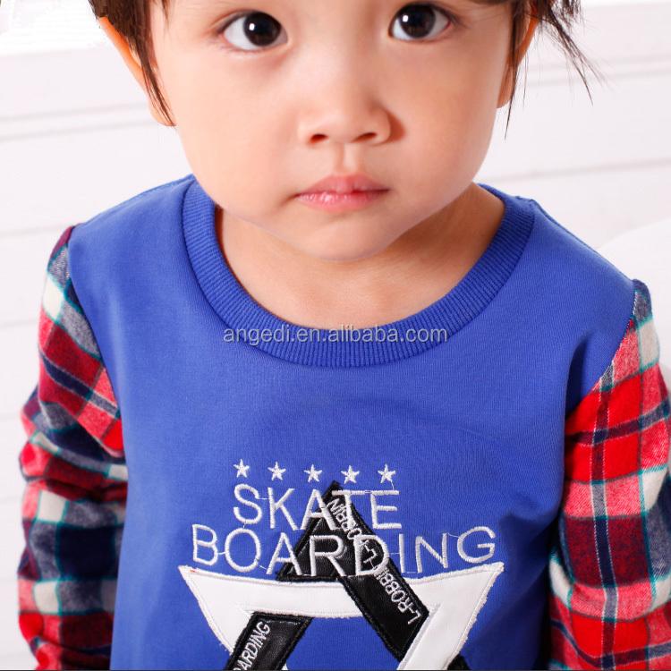 6b184adc5e9c9 2016 تصميم جديد الصبي مجموعة ملابس الاطفال ملابس الأولاد مجموعات القطن  عارضة هوديي + السراويل ملابس