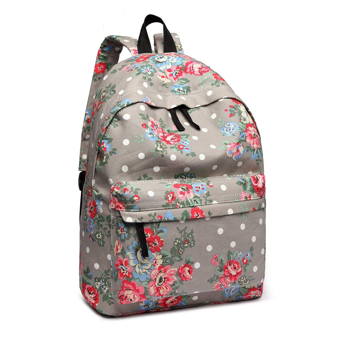 0ccc94e4bf Get Quotations · Miss Lulu School Backpacks Canvas Bookbag Cute Printed  Leisure Backpack for Teenage Girls