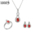 wedding gift fashion 925 sterling silver jewelry set with bow shape