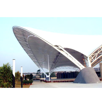 prefab steel tensile stadium tent membrane structure source supplier